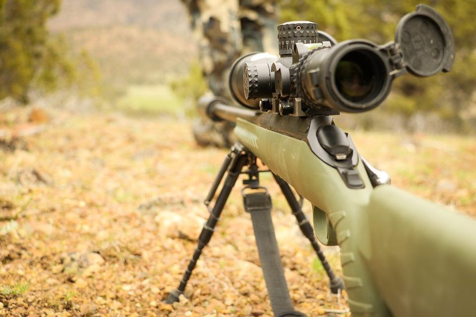 Střelba ze zbraně v lese