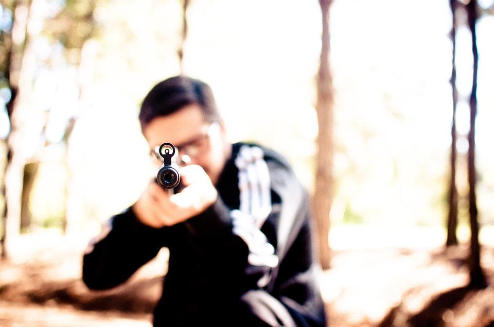 Střelba ze zrabě v terénu